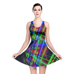 Electronics Board Computer Trace Reversible Skater Dress