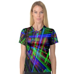 Electronics Board Computer Trace Women s V-Neck Sport Mesh Tee