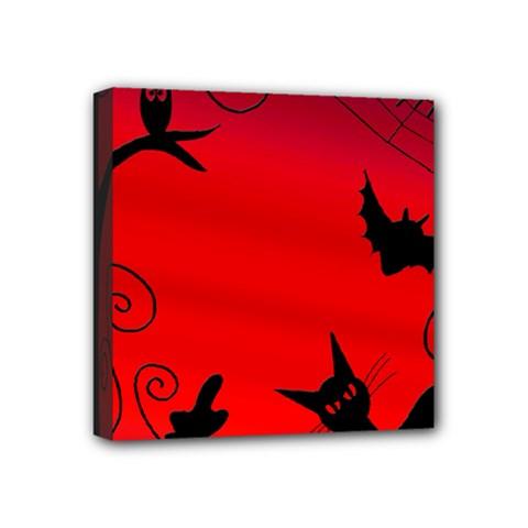 Halloween landscape Mini Canvas 4  x 4