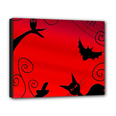 Halloween landscape Deluxe Canvas 20  x 16