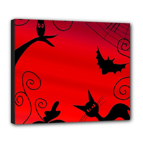 Halloween landscape Deluxe Canvas 24  x 20