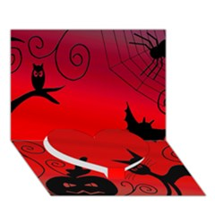 Halloween Landscape Heart Bottom 3d Greeting Card (7x5)