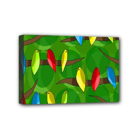 Parrots Flock Mini Canvas 6  x 4