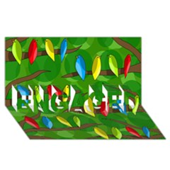 Parrots Flock ENGAGED 3D Greeting Card (8x4)