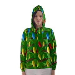 Parrots Flock Hooded Wind Breaker (Women)