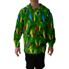 Parrots Flock Hooded Wind Breaker (Kids)