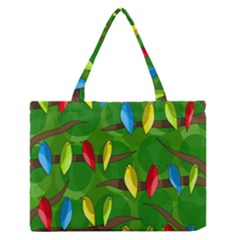 Parrots Flock Medium Zipper Tote Bag