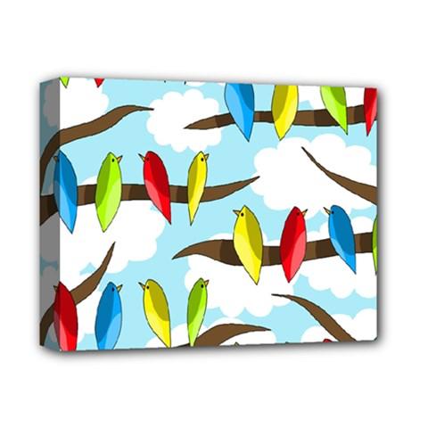 Parrots flock Deluxe Canvas 14  x 11