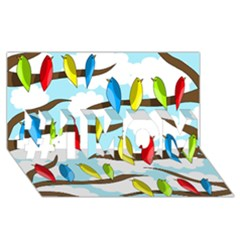 Parrots flock #1 MOM 3D Greeting Cards (8x4)