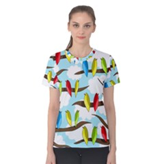 Parrots flock Women s Cotton Tee