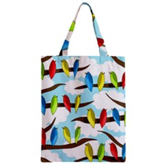 Parrots flock Zipper Classic Tote Bag