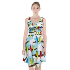 Parrots Flock Racerback Midi Dress