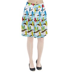 Parrots flock Pleated Skirt