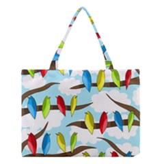 Parrots flock Medium Tote Bag