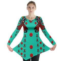 Dancing In Polka Dots Long Sleeve Tunic