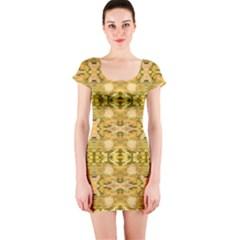 Fabric Design Pattern Color  Short Sleeve Bodycon Dress