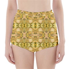 Fabric Design Pattern Color  High-Waisted Bikini Bottoms