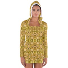 Fabric Design Pattern Color  Women s Long Sleeve Hooded T-shirt