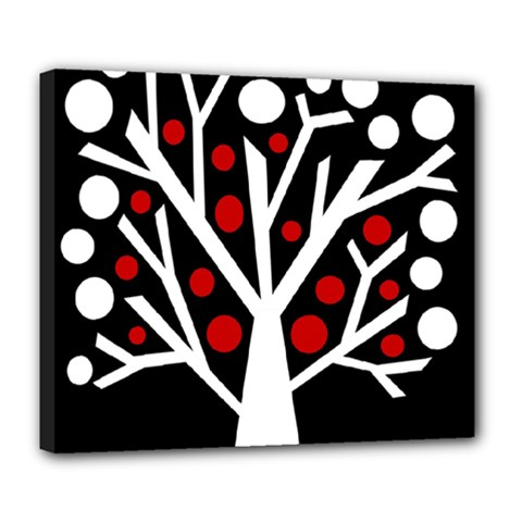 Simply decorative tree Deluxe Canvas 24  x 20