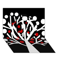 Simply decorative tree Peace Sign 3D Greeting Card (7x5)