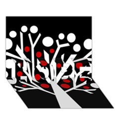 Simply decorative tree HOPE 3D Greeting Card (7x5)