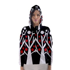 Simply decorative tree Hooded Wind Breaker (Women)