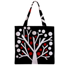 Simply decorative tree Zipper Grocery Tote Bag