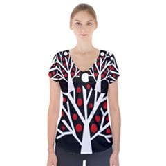 Simply decorative tree Short Sleeve Front Detail Top