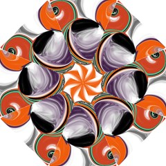 Abstract Orb in Orange, Purple, Green, and Black Hook Handle Umbrellas (Small)
