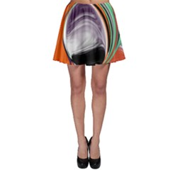 Abstract Orb in Orange, Purple, Green, and Black Skater Skirt