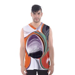 Abstract Orb In Orange, Purple, Green, And Black Men s Basketball Tank Top