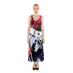Footrests Motorcycle Page Sleeveless Maxi Dress