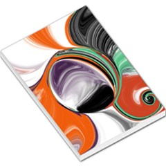 Abstract Orb In Orange, Purple, Green, And Black Large Memo Pads