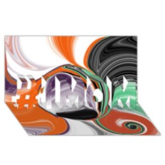 Abstract Orb in Orange, Purple, Green, and Black #1 MOM 3D Greeting Cards (8x4)