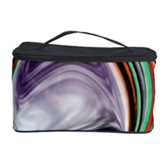 Abstract Orb in Orange, Purple, Green, and Black Cosmetic Storage Case