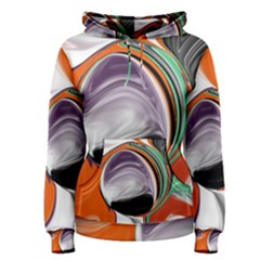 Abstract Orb in Orange, Purple, Green, and Black Women s Pullover Hoodie