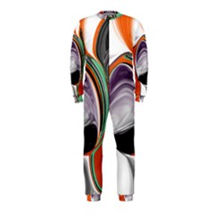 Abstract Orb In Orange, Purple, Green, And Black Onepiece Jumpsuit (kids)