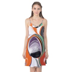 Abstract Orb In Orange, Purple, Green, And Black Camis Nightgown