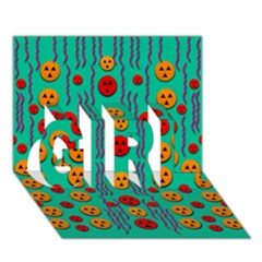 Pumkins Dancing In The Season Pop Art Girl 3d Greeting Card (7x5)