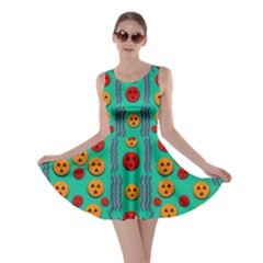 Pumkins Dancing In The Season Pop Art Skater Dress