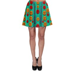 Pumkins Dancing In The Season Pop Art Skater Skirt