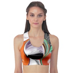 Abstract Orb Sports Bra