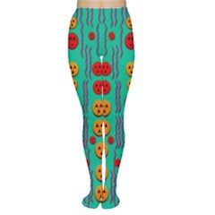 Pumkins Dancing In The Season Pop Art Women s Tights