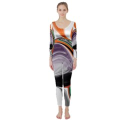 Abstract Orb Long Sleeve Catsuit