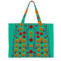 Pumkins Dancing In The Season Pop Art Large Tote Bag