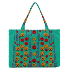 Pumkins Dancing In The Season Pop Art Medium Zipper Tote Bag
