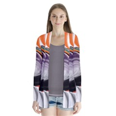 Abstract Orb Drape Collar Cardigan