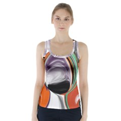 Abstract Orb Racer Back Sports Top