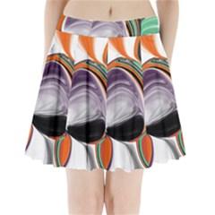 Abstract Orb Pleated Mini Skirt