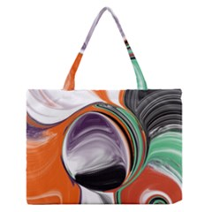 Abstract Orb Medium Zipper Tote Bag